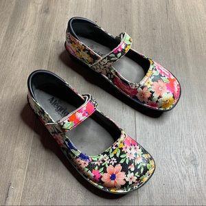 ALEGRIA | Black Floral Mary Jane Belle Shoes
